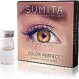 SUMITA Color Perfect (Miele) Lenti a Contatto Colorate, Lenti a Contatto Mensili, morbide, durata di 1 mese,Proteggono gli occhi dai raggi UV, Non Graduate, Made in Corea, Design italiano