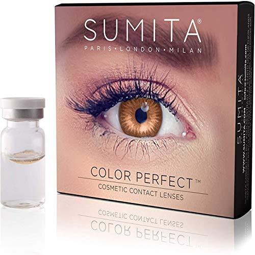 SUMITA farbige Kontaktlinsen (Honig), Kontaktlinsen, weich, 1 Monat Lebensdauer, Schützen Sie Ihre Augen vor UV-Strahlen, nicht verschreibungspflichtig, Made in Korea, italienisches Design