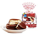 QUALITY: Each Chocolate Pie is made with a Egg Filling sandwiched between two big crisp graham crackers. Eggs, wheat, chocolate, maltose, simple and high quality. DELICIOUS: Add our maltose sandwich with a layer of ample chocolate coating, wrapped in...