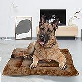 BCASE Cama Perro, Cama de Perros Grandes, Cama para Perros, Cama para Mascotas Desmontable y Extraíble Lavable 110 x 80 x 15 CM (XL, Marrón Oscuro)