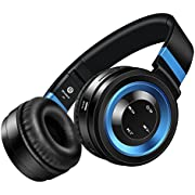 Sound Intone P6 Bluetooth 4.0 Wireless Stereo Headphones with mic for mobile phone(Black/blue)
