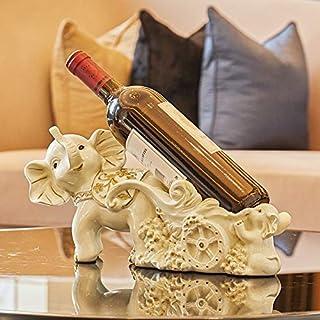 Decoración Creativa del Elefante de la Sala de Estar del gabinete del Vino Inicio Artesanía Decoraciones Resina Europea Vino Tinto Restaurante Restaurante Beige Elefante de Oro 34 * 10 * 15 cm