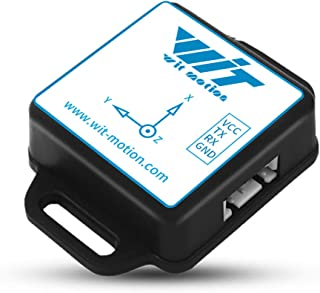 WitMotion BWT901CL Bluetooth mpu9250 Gyro+Accelerometer(+-2g/4g/8g/16g)+Angle+Magnetometer,9-Axis Digital Compass (TTL,200HZ Output),Triple-Axis Tilt Angle Inclinometer for PC/Andriod/Arduino and More