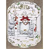Me To You Bear Fabulous Wife - Tarjeta de Navidad en caja