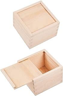 WANDIC Caja de Almacenamiento, Caja de Almacenamiento de Madera con Tapa Deslizante para Guardar Accesorios, cosméticos, papelería, hogar, Oficina, Escuela