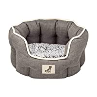 Luxury range with ultra soft reversible cushion - opposite side of cushion matches external colour High sides providing your pooch the greatest warmth and comfort 100% machine washable at 30 degrees Dog Bed Dimensions (L x W x H) 57 x 52 x 22cm Cushi...