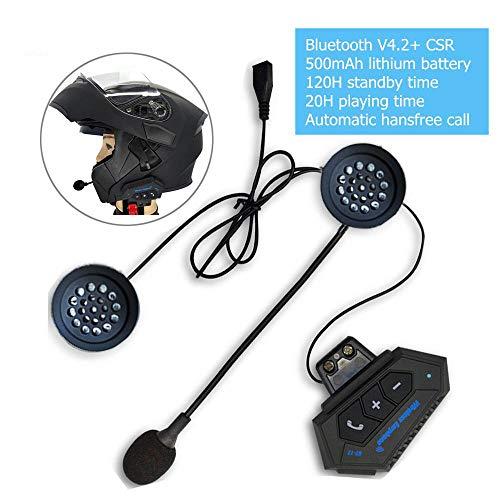 DishyKooker - Auriculares Bluetooth para casco de moto 4.1 + EDR CSR8635 Bluetooth con intercomunicador para motor de bicicleta