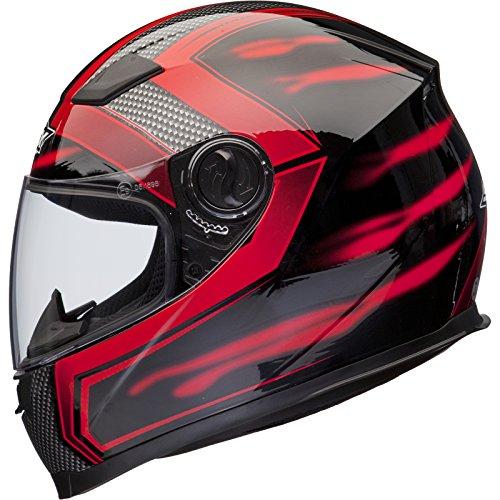 Shox Sniper Skar Motorrad Helm XL Rot