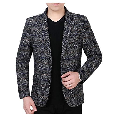 Aooword-men clothes Affari Outwear cappotto a quadri Premium Blazer Giacche uomini Grigio Piccolo