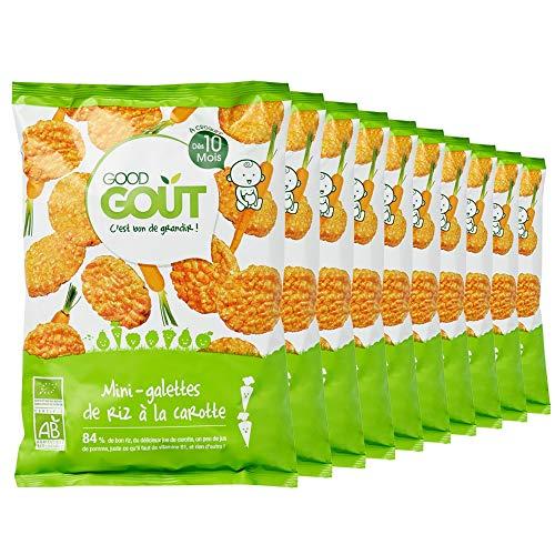 Good Goût Bio Mini- galettes de Riz à la Carotte dès 10 Mois 40 g