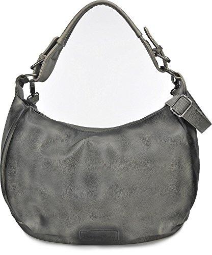 FRITZI AUS PREUSSEN, Damen Handtaschen, Henkeltasche, Hobo-Bag, 42 x 28 x 14 cm (B x H x T), Farbe:Dunkelgrau