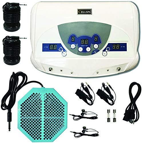 Cell Spa, Dual Ionic Ion Detox Aqua Foot Spa Chi Cleanse Machine with Mp3 Music Player With Twice Powerful CS-900 Array