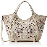 Desigual Bag Apolo Rotterdam Women - Borse a spalla Donna, Bianco (Crudo), 15x30x31 cm (B x H T)