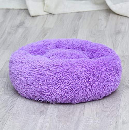 Monba Luxuriöses Flauschiges Hundebett Katzenbett,Weiches Welpenbett Warmes Hundekissen,Doughnut rundes Kuschelbett Hundesofa groß für Katzen,kleine,mittelgroße und groß Hunde,Waschbares