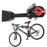 Iriisy Soporte de Reparación de Bicicletas Soporte Plegable de Pared Resistente con Abrazadera para Garaje Casa Soporte de Montaje Ajustable en Pared