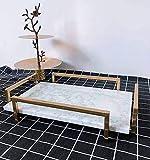 MGWA Ornamentos escandinavos modernos, minimalistas, rectangulares, creativos, de lujo, para sala de estar, galardones, taza de té, bandeja de 36 x 23 x 7 cm (color: blanco)