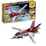 LEGO Creator - Reactor Futurista, Juguete 3 en 1 de Construcción de Avión y Naves Espaciales para Niños y Niñas a...