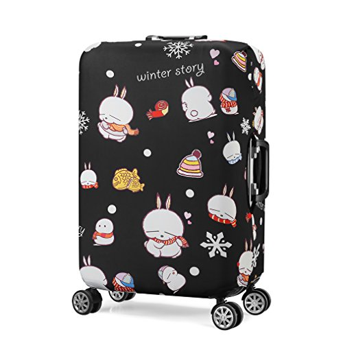 Water Resistant Print Trolley Case Protective Cover for 26/27/28 Luggage Dust Cover Washable Travel Suitcase Protector L Mashimaro