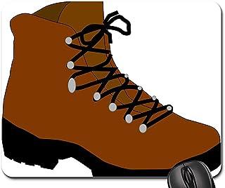 N\A Tapis de Souris - Chaussures de Botte de randonnée Travail d'hiver Randonneur Marche