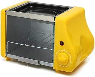 Máquina De PanCafé Eléctrico 3 En 1 Horno Parrilla Pan Tostadora Sandwich Hornear Multicocina Hogar Grill B