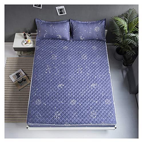 QIANGU Funda protectora de colchón con cremallera, transpirable, fácil de lavar, no resistente al agua para dormitorios (color: B, tamaño: 200 x 220 + 25 cm)