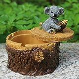 KEWEI Cenicero De Puros, Salvaje del Animal Decorativo decoración de la Resina Cenicero Cenicero Resina - Mejor turística (1 Paquete) (Tamaño: C), Color: Una (Color : D)