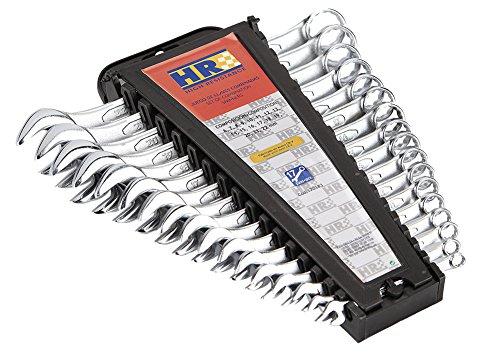 HR 170183 Juego De Llaves Combinadas, 0 V, Negro, Set de 17 Piezas