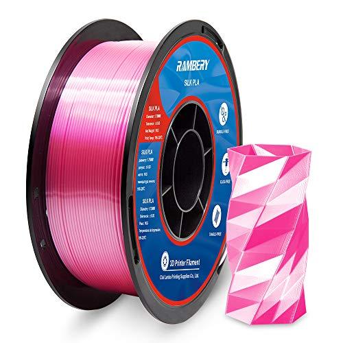 PLA Silk Filament 1.75 mm 3D Printer Filament PLA Filament 1 kg Spool 3D Printer PLA Shiny Silk Red