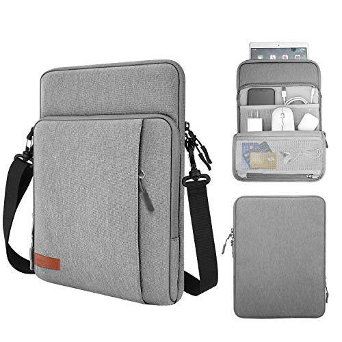 MoKo 13.3 Inch Laptop Sleeve Bag Carrying Case with Storage Pockets Fits MacBook Pro 13' 2012-2015, MacBook Air 13' 2012-2017, iPad Pro 12.9' 2018/2020, Google Pixel Slate 12.3' 2018, Light Gray