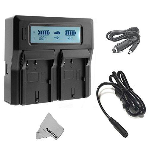 Caricabatteria Fomito doppio digitale con schermo LCD per Sony NP-F970 F960 F950 F750 F550 FM50 HDV Batterie