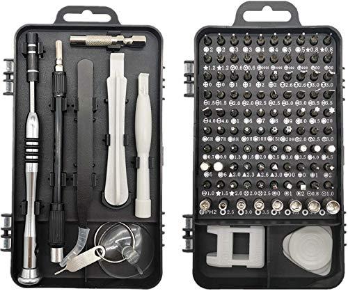115 en 1 Juego de Destornillador de Precisión, Kit de Herramientas de Reparación de Bricolaje para Arreglar...