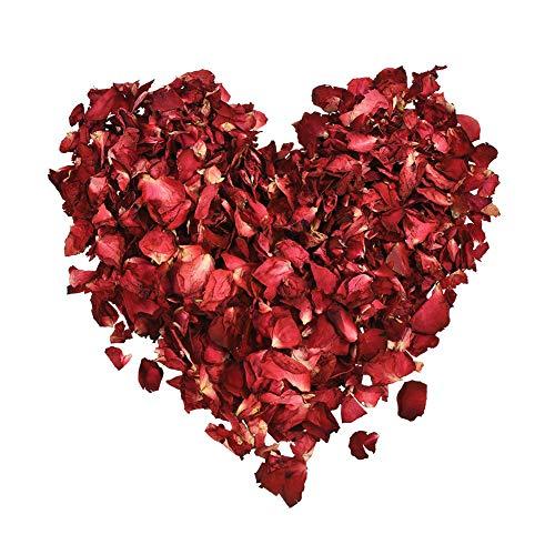 Romote 1 Beutel mit getrockneten Rosenblättern Blumen - natürlicher Duft und Nichts hinzugefügt