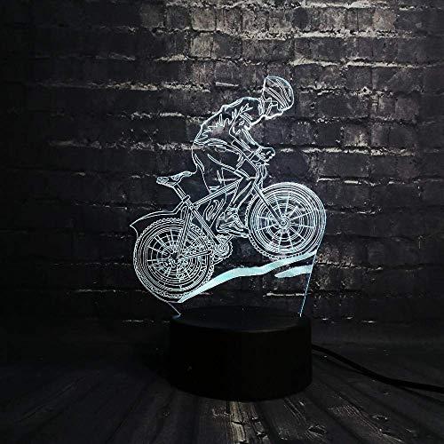 Nachtlampje LED nachtlampje multicolor Lava LED RGB fiets man Luminaria tafel kinderen kerstgeschenken Home Deacorative Sport Light Boy