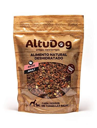 ALTUDOG Alimento Natural deshidratado para Perros Adultos Pavo SIN Cereales 1Kg - Comida Natural para Perros (1Kg)