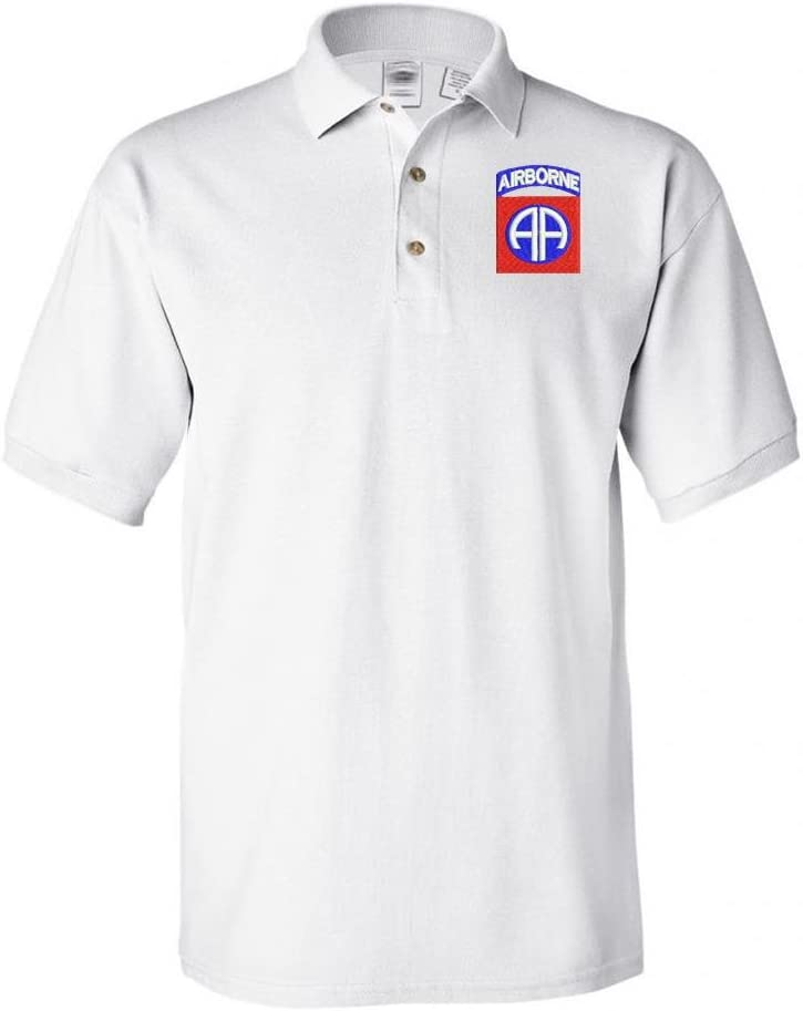 Military 82nd Regular store online shop Airborne Shirt Polo White