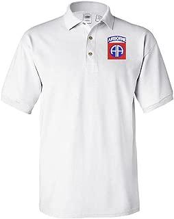 82nd Airborne Polo Shirt White