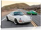 Kunstdruck auf Leinwand, Motiv: Porsche Singer 911, 61 x