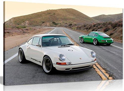 Kunstdruck auf Leinwand, Motiv: Porsche Singer 911, 76,2 x 50,8 cm