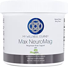 Max NeuroMag - Patented Magnesium for The Brain Featuring 3 Forms of Magnesium Including L-Threonate- Great Tasting, Natur...