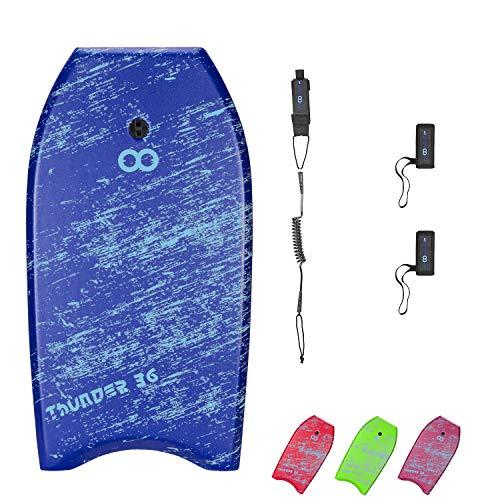 WOOWAVE Bodyboard 33-inch/36-inch/41-inch Super Lightweight Body Board with Premium Coiled Wrist...