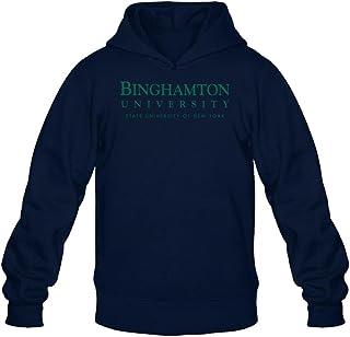 TMILLER Men's Binghamton University Logo Hoodied Sweatshirt