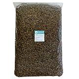 algova Hermetia Dried - Alimento Natural de Insectos para Peces, Aves, Reptiles, Tortugas, erizos, Pollos, Peces de Estanque (5kg)