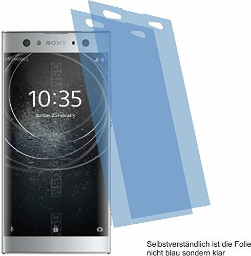 4ProTec I 2X Crystal Clear klar Schutzfolie für Sony Xperia XA2 Ultra Bildschirmschutzfolie Displayschutzfolie Schutzhülle Bildschirmschutz Bildschirmfolie Folie