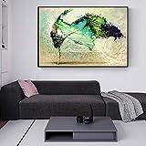 WCLGDJ Arte Abstracto de la Lona de la Muchacha del bailarín Impresiones Modernas Pinturas de la Pared de la Muchacha del Ballet cartele 50x70cm Sin Marco