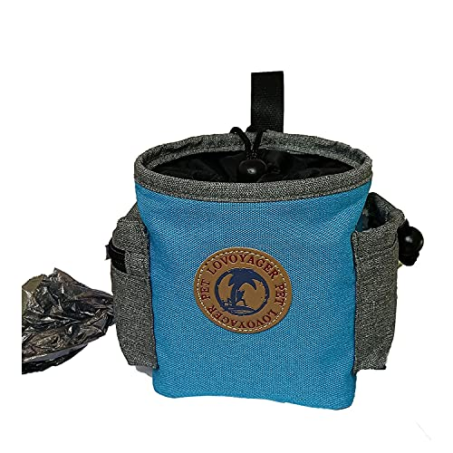 Dog Treat Pouch Dog Treat Bag Built in Poop Bag Dispenser for Training Small to Large Dogs,Puppy Treat Pouch Easily Carries Pet Toys Kibble Treats
