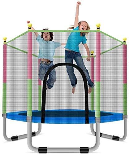 Trampolin Brincolin para Niños y adultos Cama elástica con recinto de la seguridad neto, al aire libre Jardín JumpingBed Salto Mat y la primavera de la cubierta del acolchado interior al aire libre mi