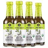 Tessemae's Organic Green Goddess Dressing and Marinade, Whole30 Certified, Keto Friendly, USDA Organic, 10 fl oz. bottles (4-Pack)