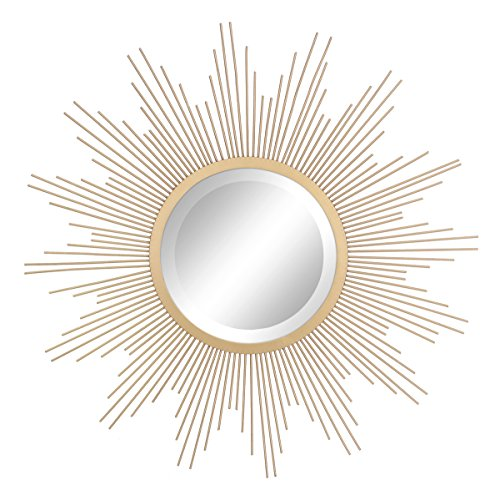 Stonebriar Sunburst Wall mirror, 24 Inch, Gold