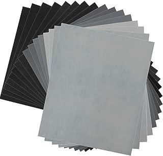 Wormholex 紙やすり 耐水ペーパーセット 16枚入り (400 1000 1500 2000 2500 3000 5000 7000各2枚)