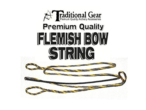 Flemish B-50 Dacron Replacement RECURVE Bowstring - Bow String - Actual String Length - by Trad Gear Archery Products (Multiple Sizes) (56')